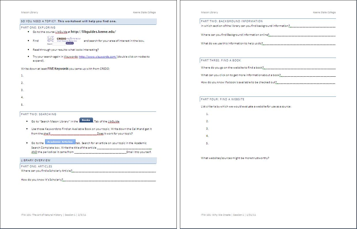 Worksheet Finding and Using Keywords – College Search Worksheet